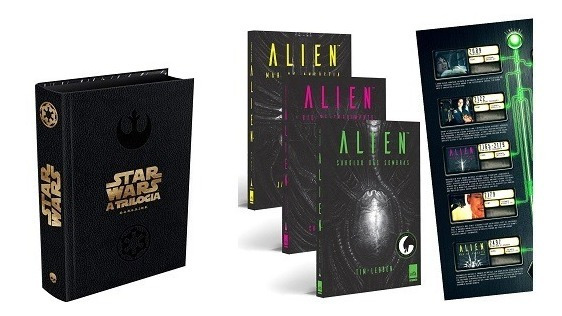 Star Wars Trilogia Darkside Book + Alien + Poster Kit Livros