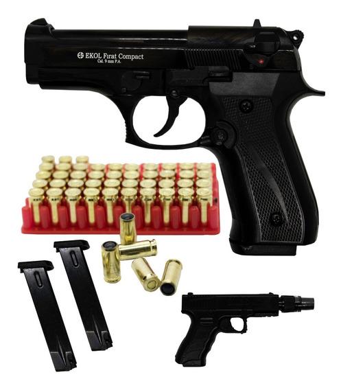Pistola Traumática Ekol® Firat Compact Beretta 9mm 50 Balas