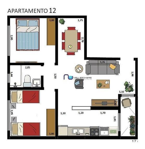Apartamento Com 2 Dormitórios Para Alugar, 60 M² Por R$ 1.900/mês - Tatuapé - São Paulo/sp - Ap4057