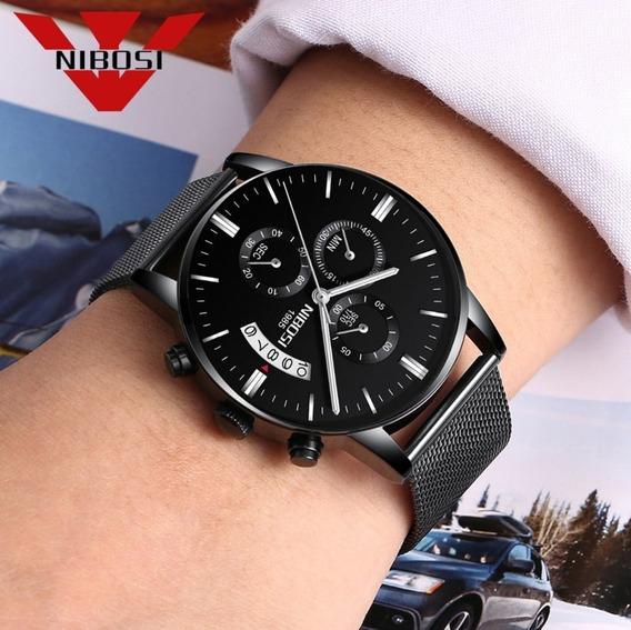 Relógio Nibosi Original Cronógrafo Top Luxo