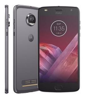 Motorola Moto Z2 Play Xt1710-07 Platinum 64gb Vitrine