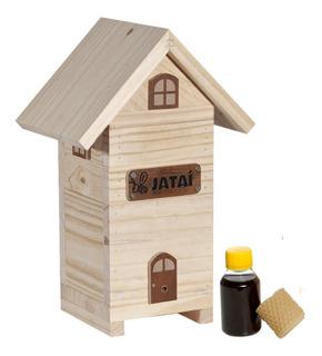2 Caixa Decorativa Estilo Chalé Para Jataí + Loção Atrativo