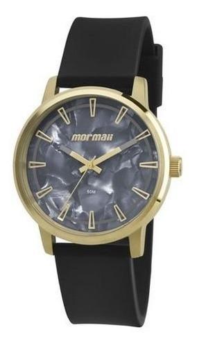 Relógio Feminino Mormaii Mo2035dn/8p Preto Dourado