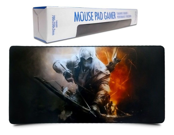 Mouse Pad Gamer Extra Grande 70x35x3mm Barato