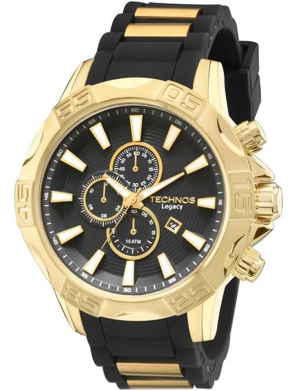 Relógio Technos Legacy Dourado Masculino Pulseira Invicta