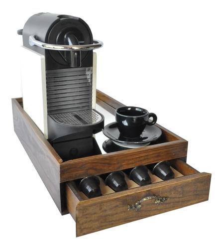 Caixa Para Maquina E Capsulas Nespresso P Pinus Luxo
