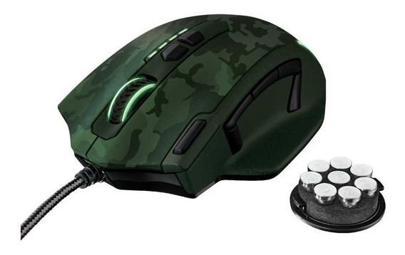 Mouse Trust Gamer Gxt 155c Caldor Green Camouflage Rgb 4.000