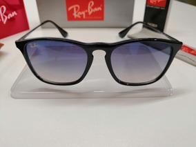 0c7202669 Ray Ban Chris Preto Fosco Com Lentes Azul - Óculos no Mercado Livre ...