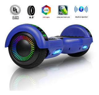 Hoverboard Electric Scooter Con Bluetooth Y Luz Led 6.5 Inch