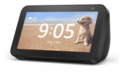 """Imagen 1 de 2 de Amazon Echo Show 5 1st Gen con asistente virtual Alexa, pantalla integrada de 5.5"""" charcoal 110V/240V"""