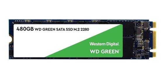 Hd Ssd 480gb M.2 Sata Wd Green 2280 Wds480g2g0b Novo