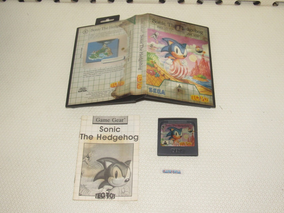 Sonic The Hedgehog Completo Original Game Gear Tec Toy