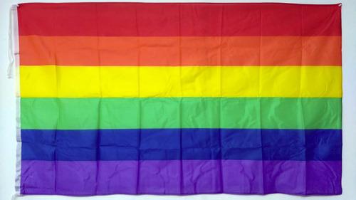 Bandera Lgbt Orgullo Gay Arcoiris Diversidad 90 X 60cm