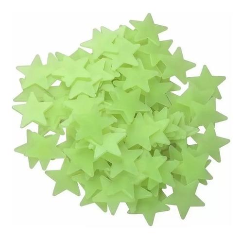 Imagen 1 de 10 de Estrellas Fosforesentes 100 Piezas Fluorescentes  Adhesivas