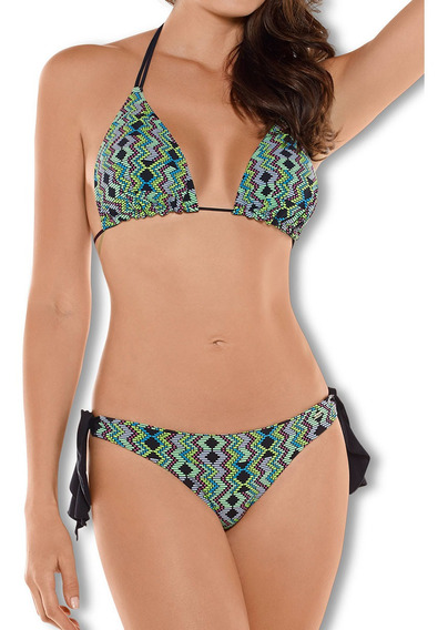 Bikini De Baño Multiuso Verde Haby Para Mujer (31505)