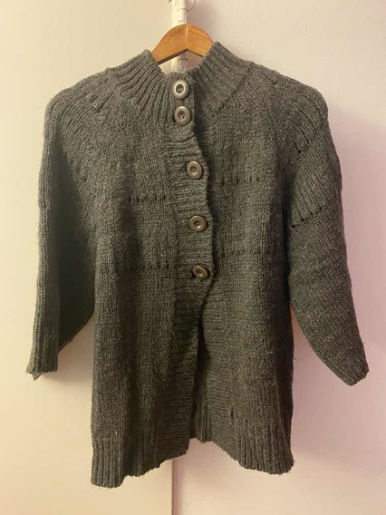 Sweter Pullover Gris Tipo Mujer Tipo Saco