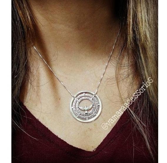 Corrente De Prata 925 Mandala Sete Dons Do Espírito Santo