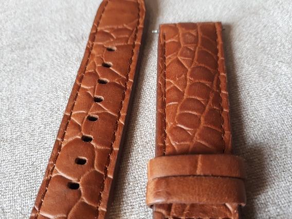 Pulseira Original Relógio Mk Michael Kors Em Couro Caramelo