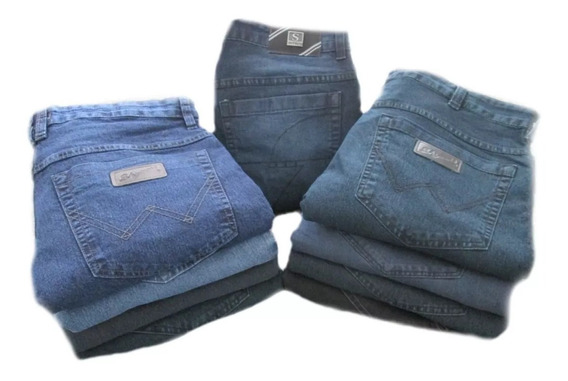 Calça Jeans Tradicional C/ Elastano 36 A 66 (super Oferta)