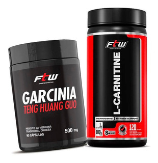 Kit Emagrecedor L-carnitine 120caps 1000mg + Garcinia - Ftw