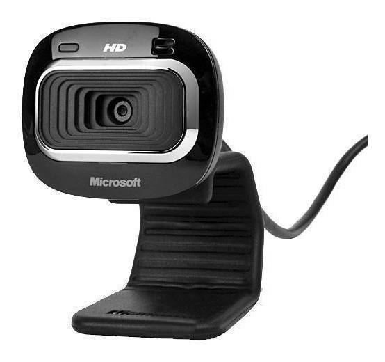 Webcam Microsoft Lifecam Hd-3000 Widescreen Hd De 720p-preto