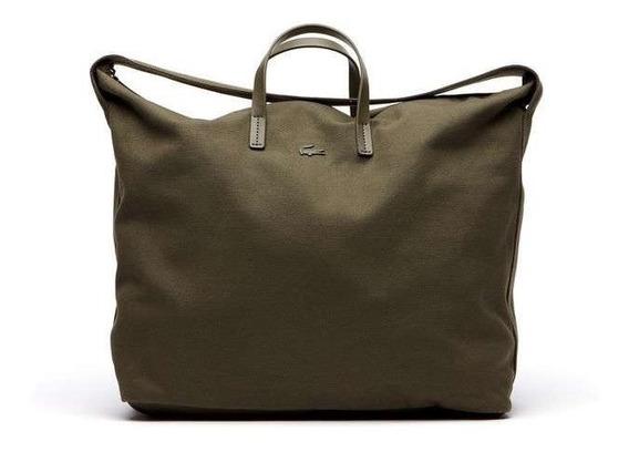 Cartera Lacoste Mujer Sstrap Shopping Bag Nf2392 Verde Oliva