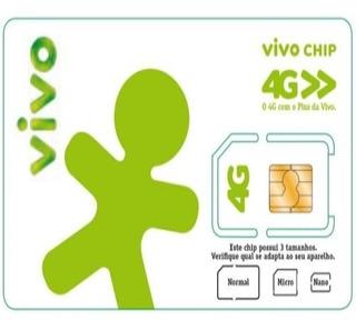 Chip Vivo 4g Pré Pago Triplo Corte Escolha O Ddd Que Quiser