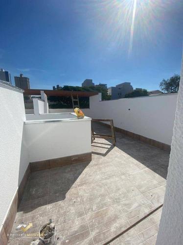Cobertura Com 2 Dormitórios À Venda, 48 M² Por R$ 302.000,00 - Vila Alzira - Santo André/sp - Co0423