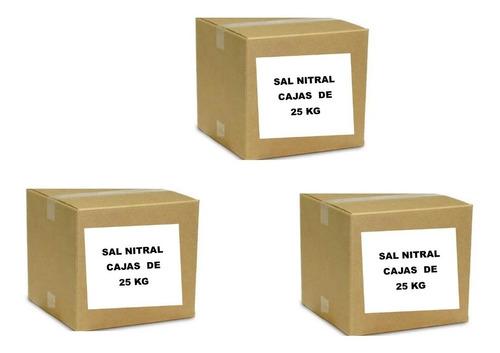 Sal Nitral Al 6% Caja De 25 Klgrs Ventas Solo Por Mayor