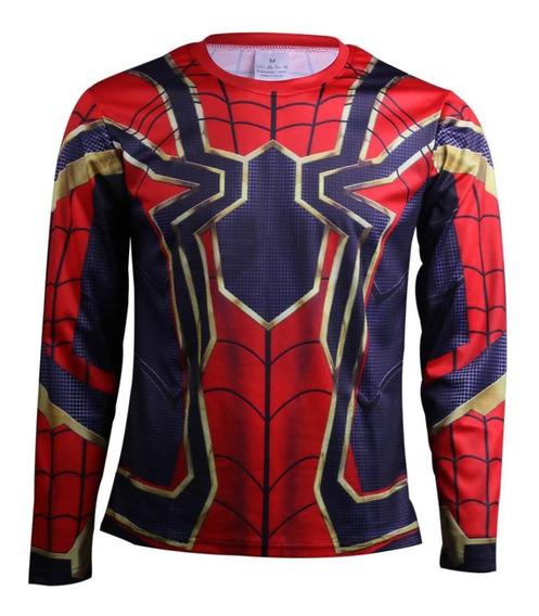 Playera Licra Spiderman Avengers Endgame Infinity War Gym