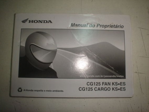 Manual Moto Honda Cg 125 Fan Cargo Ks Es 2012 2013 2014 2015