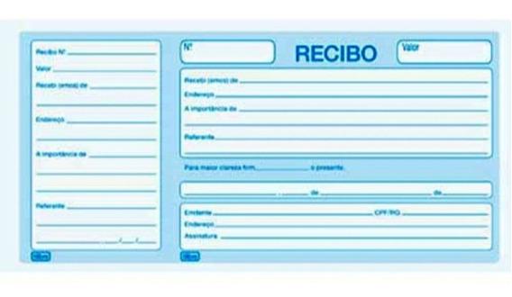 Bloco Recibo Com Canhoto / 50 Folhas - Tilibra