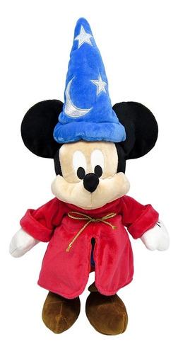 Pelúcia Mickey Mouse Feiticeiro Fantasia 46cm Disney Oficial