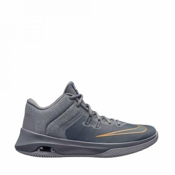 Tenis Deportivo Basquetbol Nike Color Gris Sintetico Xg336