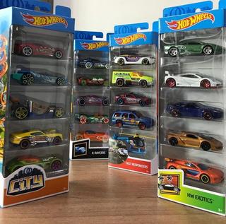 Kit Com 5 Carrinhos Hot Wheels Novo Aleatórios