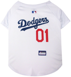Pets First Mlb La Dodgers Dog Jersey, X-small. - Pro Team Co