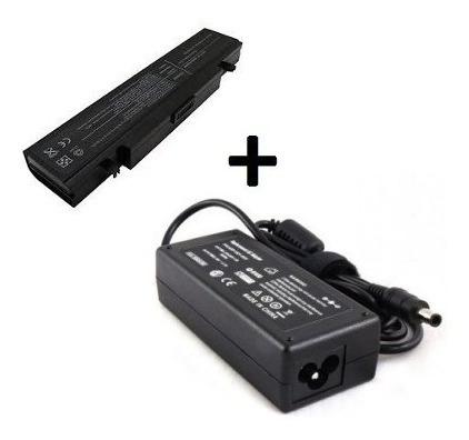 Kit Fonte 19v 3,16a + Bateria Para Samsung R430 R440 Rv410