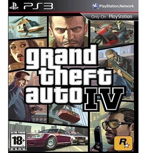 Grand Theft Auto Iv Gta 4 Playstation 3 Físico Novo Lacrado