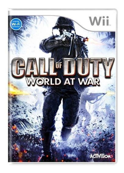 Call Of Duty World At War Wii Mídia Física Pronta Entrega