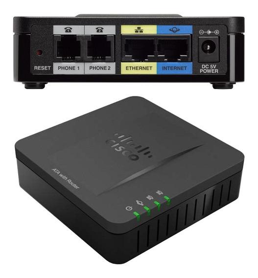 Gateway Cisco Spa122 Ata 1 Puerto Wan 1 Puerto Lan 2 Fxs Voip Con Router