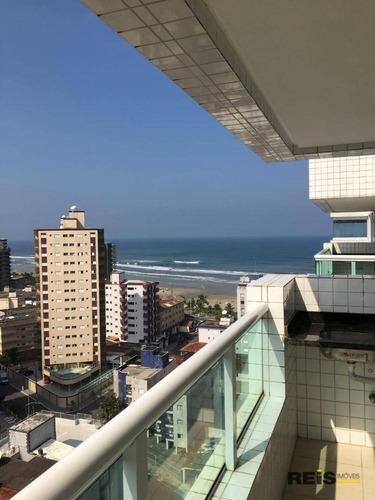 Imagem 1 de 12 de Apartamento Com 2 Dormitórios À Venda, 80 M² Por R$ 396.000,00 - Vilamar - Praia Grande/sp - Ap1277