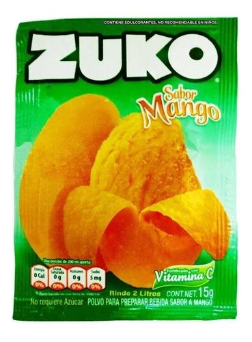 Imagen 1 de 2 de Jugo En Polvo  Zuko Sabor Mango 15 Gr