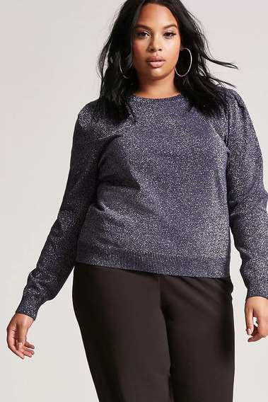 Sweater Forever 21 Plus Metalizado Talle X2 Y X3