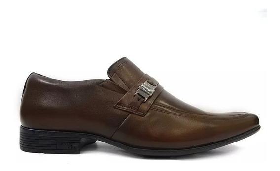 Sapato Masculino Social Jota Pe Airbag Couro Marrom Promocao