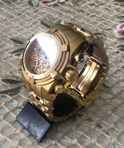 Relógio Invicta Bolt Zeus Skeleton Dourado Dukd