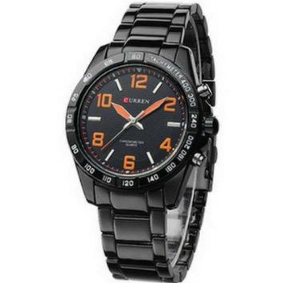 Relógio Curren 8107 Analógico Masculino Resistente Laranja