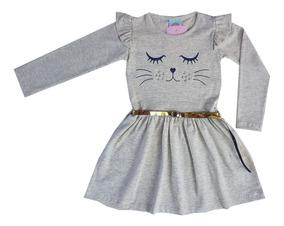 Lote 5 Vestido Infantil Menina Feminino Inverno 1 Ao 8
