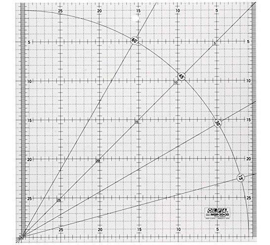 Regla Acrilica Marca Olfa Mqr 30x30cm P/patchwork Microcentr