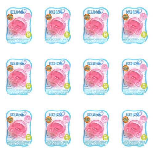 Imagem 1 de 1 de Kuka 2707 Chupeta 100% Silicone Nº2 Orto Rosa (kit C/12)