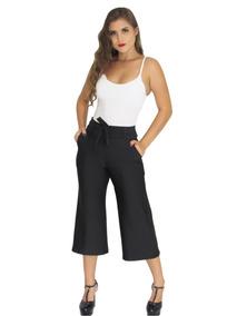 Calça Pantacourt Pantalona + Macacão Listrado Pantacourt